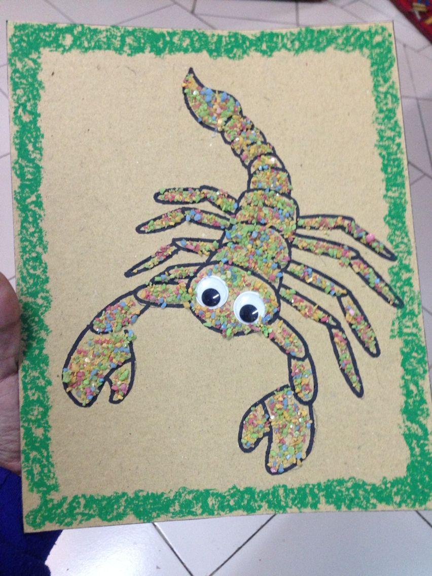scorpion craft! Preschool art activities, Farm animal crafts