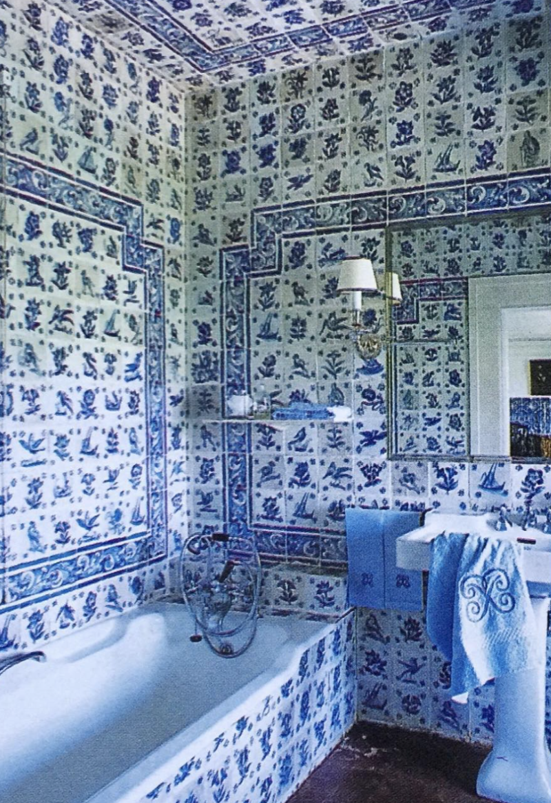 Quinta Patino Blue White Decor Portuguese Tiles Beautiful Bathrooms
