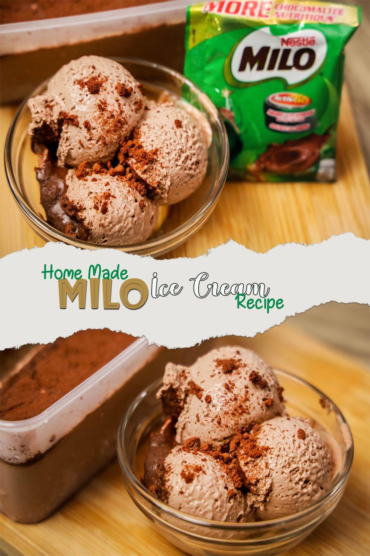 Milo Ice Cream 3 Ingredient Recipe Homemade Ice Cream In 2020 Homemade Ice Cream Recipes Savory Dessert Milo Recipe