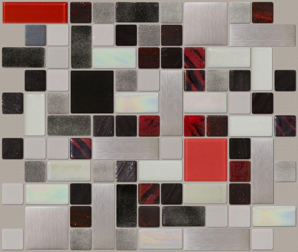Contempo - Mosaics With White Tiles - Mosaic Designs By Color - Glass Tile Mosaic Designs & Blends - Shop