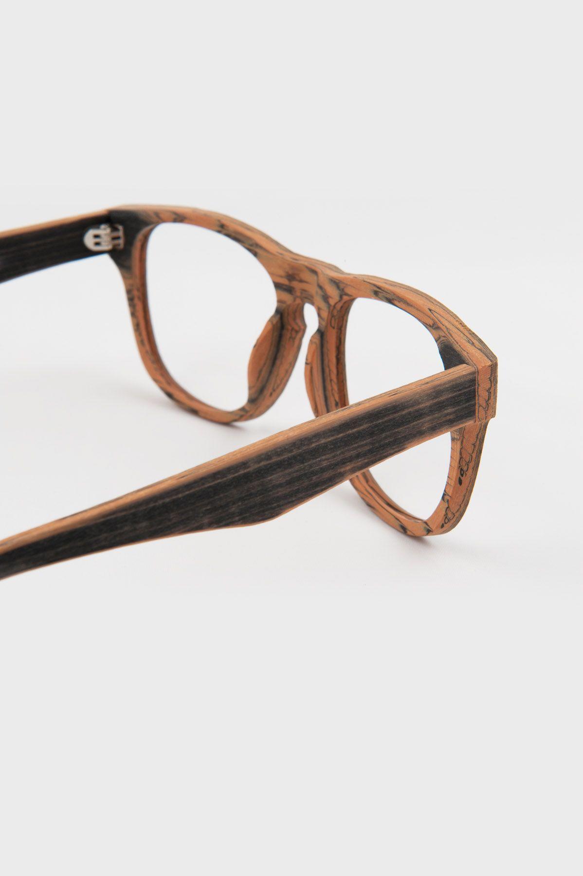Details of the Manhattan – Black Amber frame | Oak&Eyes | Wood look ...