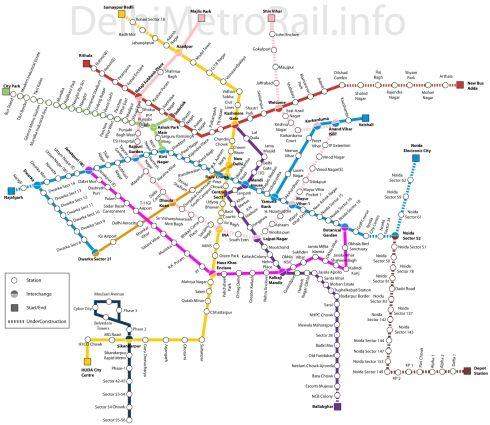 Delhi Metro Master Plan 2021 delhi metro Pinterest