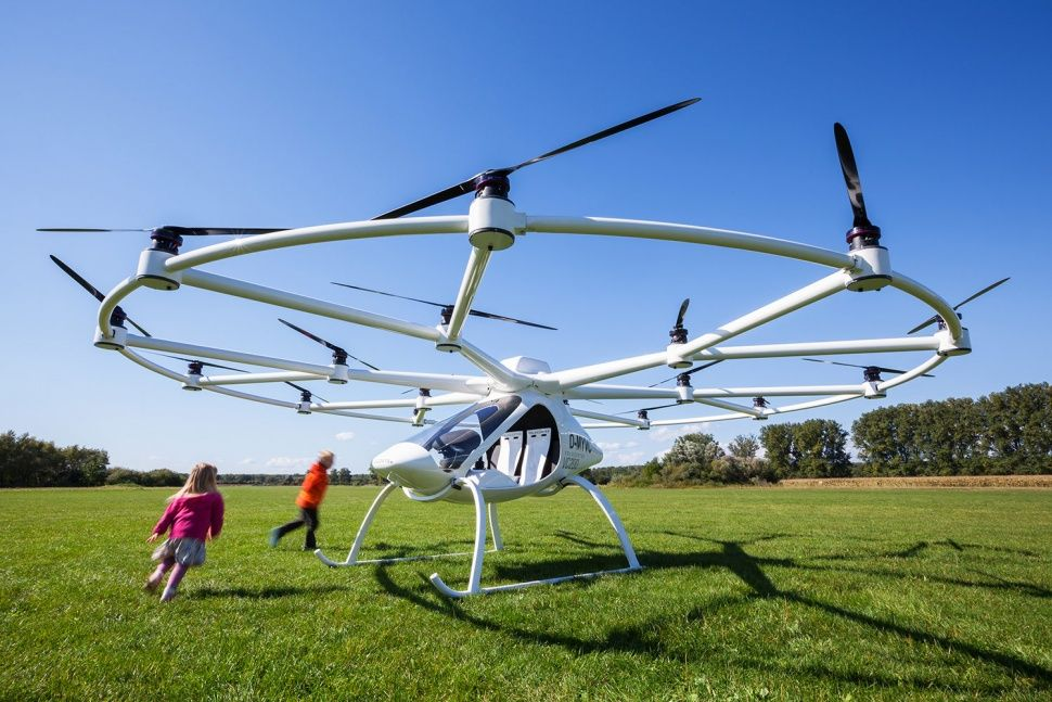 The Volocopter Is Like An Oversize Drone You Can Climb Aboard And It Works