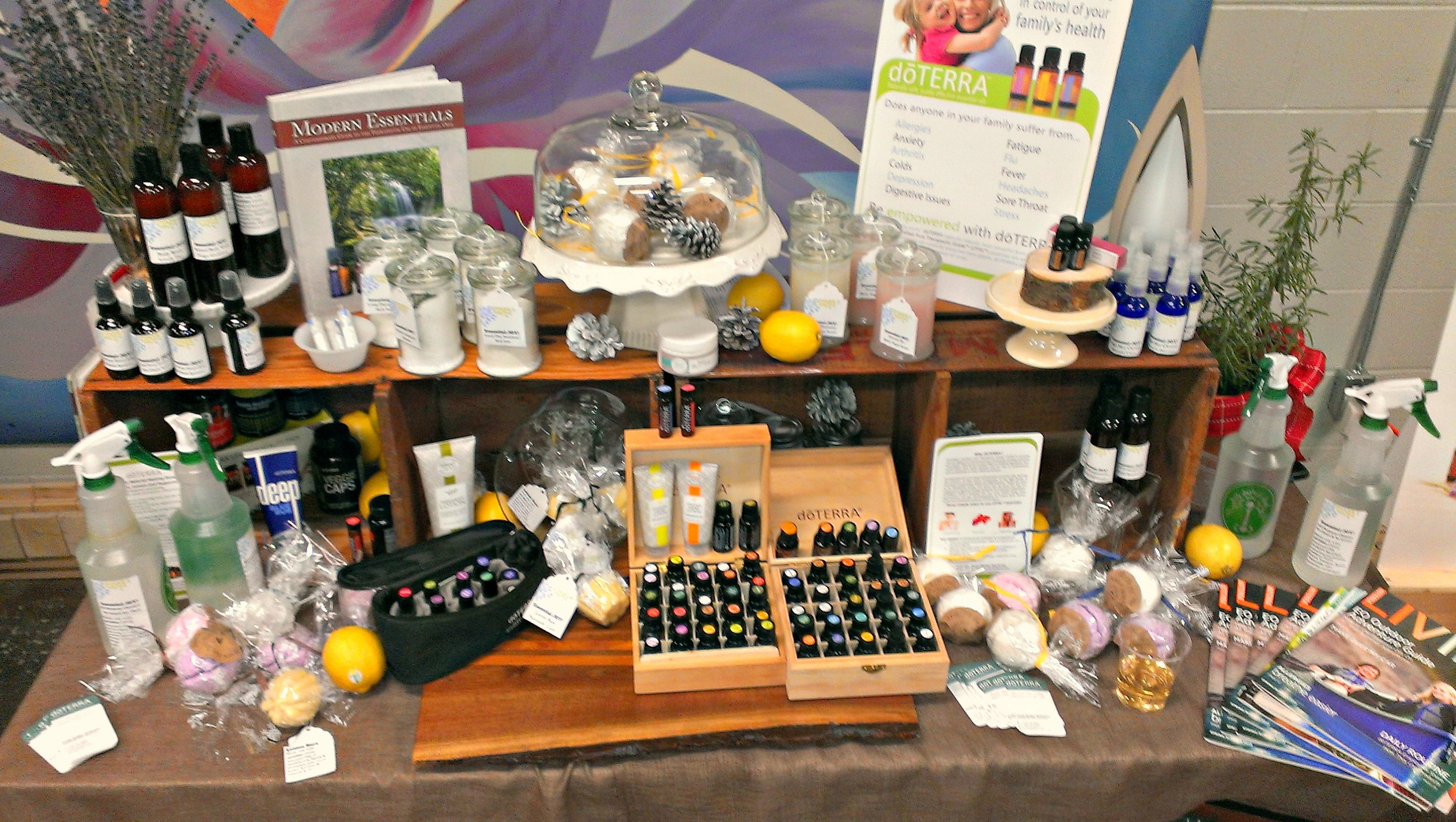 Our Marketplace Table Of Homemade And Wonderfully Natural