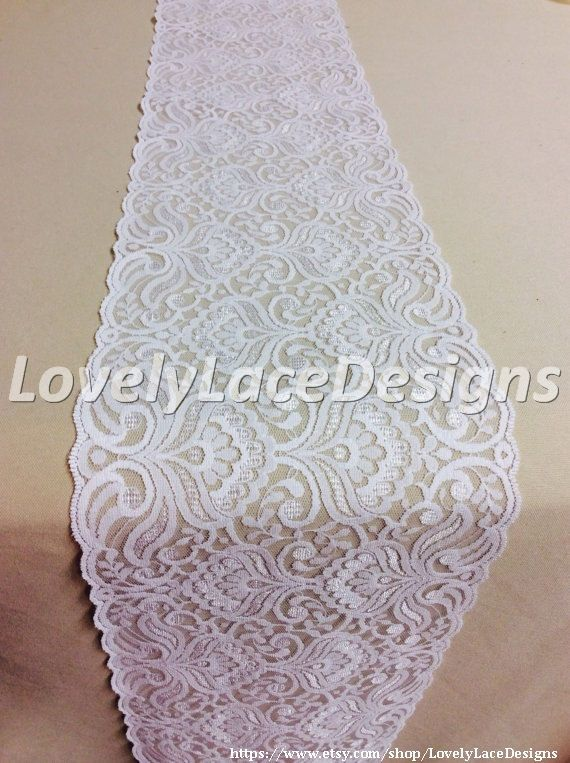 Wedding Lace Table Runner, 5ft-10ft x 7in  Wide,  Wedding Table Runner, Weddings, Overlay, Wedding Decor,  Table Decor,