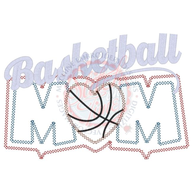 Basketball (22) Basketball Mom Applique 6x10