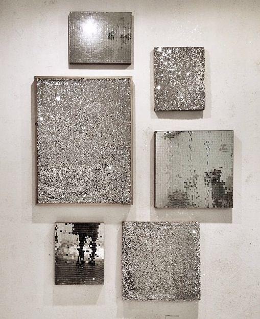 Silver wall art … | Pinteres…