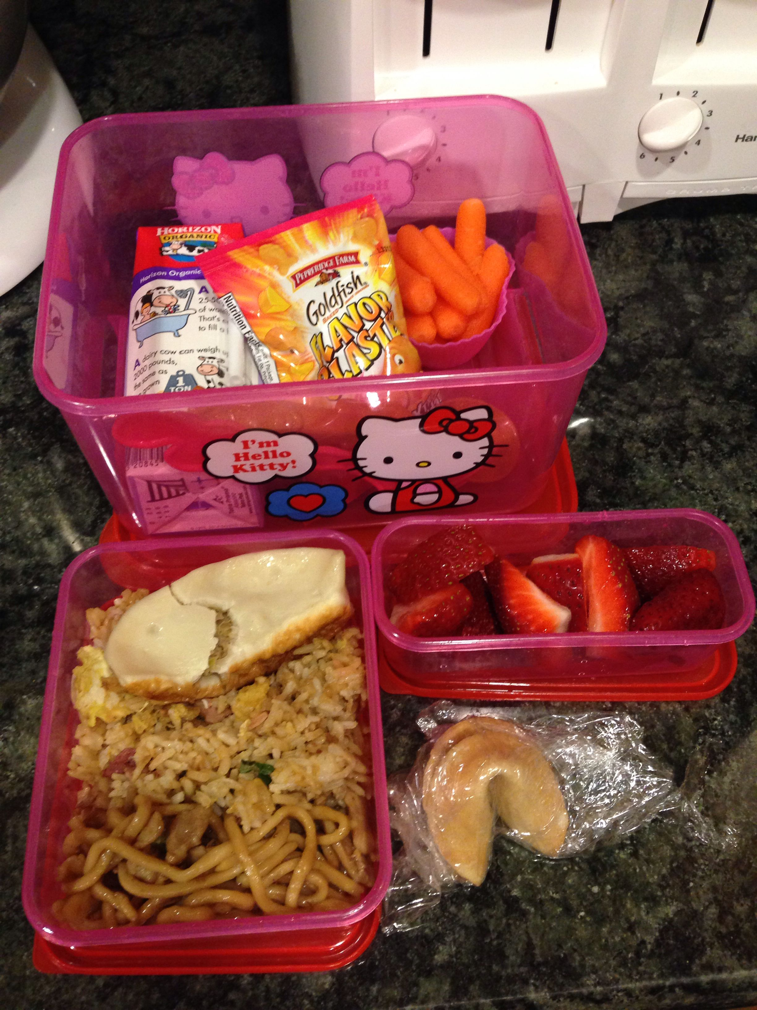 Lunch box ideas: Leftover Chinese food, chicken chow mein