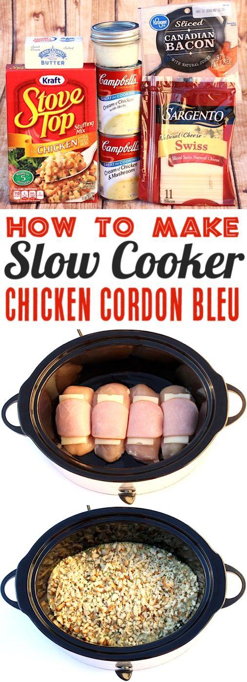 Crockpot Chicken Cordon Bleu #weeknightdinners