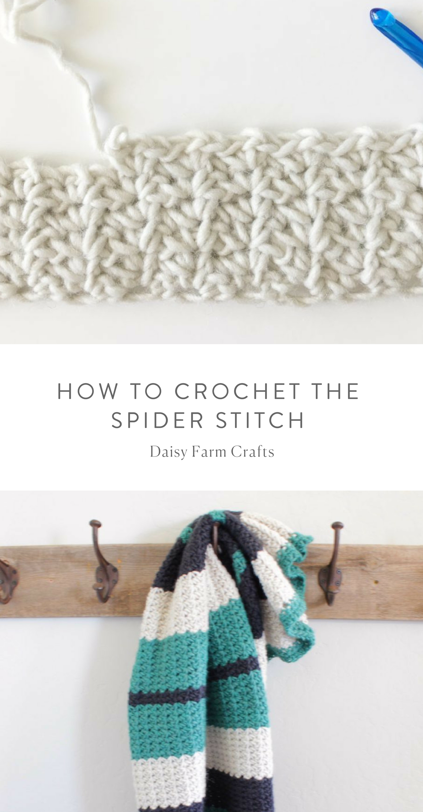 How to Crochet the Spider Stitch | Crochet love | Pinterest | Tejido