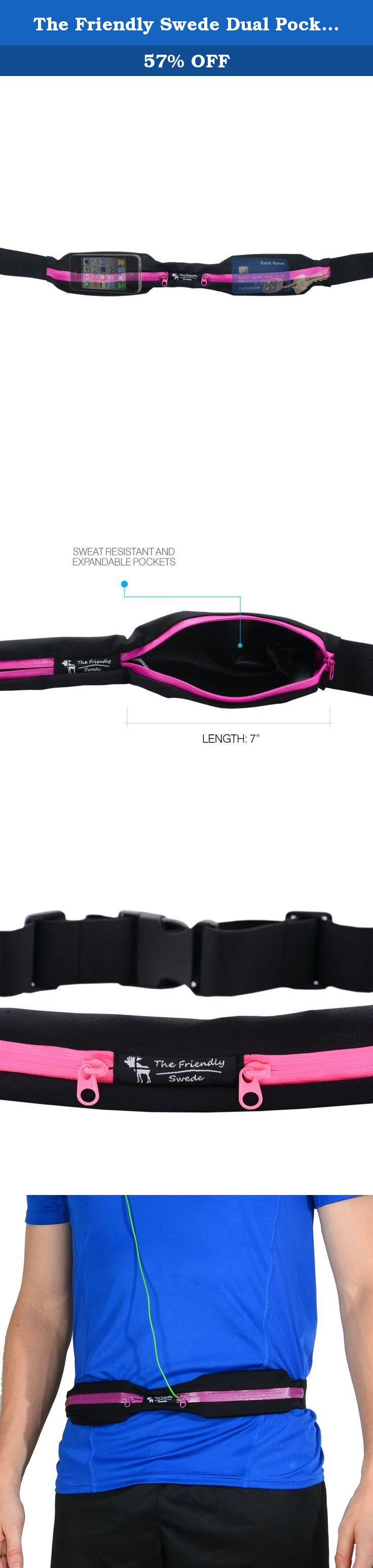 The Friendly Swede Dual Pocket Running Belts (2 Pack), Purple, Pink. The Friendly Swede® Running Belts (2 Pack) The perfect way to carry your essentials when out and about - expandable, water resistant pockets in a lightweight belt allow you to easily carry your phone, keys, cards, money and energy bars. Dual pockets allow you to separate your phone and keys to avoid scratching. Belts are great for runners, cyclists and hikers, but can also be used for traveling and sightseeing. Strong...
