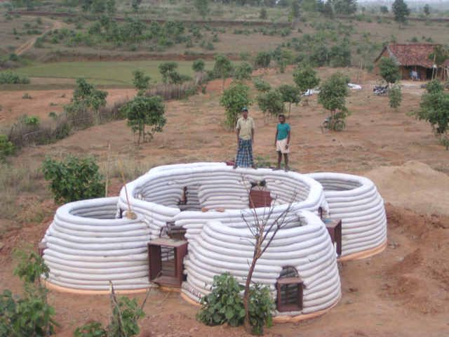 Sand Bag House Earth Bag Homes Super Adobe Geodesic