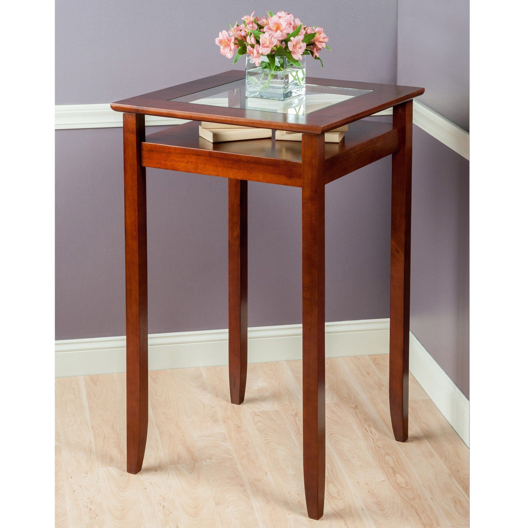 winsome halo bar height pub table  94127  pub table