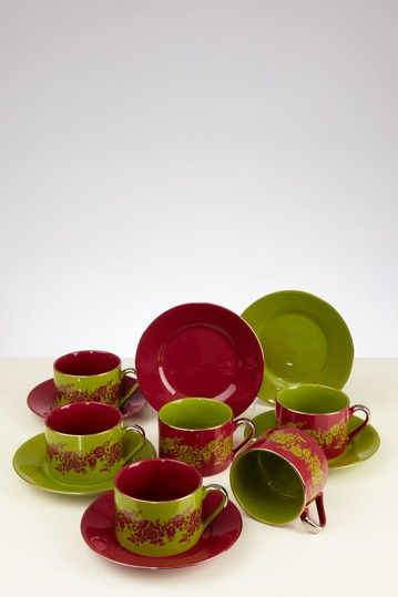 Classic Coffee And Tea Nouveau Floral Tea Cup And Saucer Set by Yedi Houseware on @HauteLook