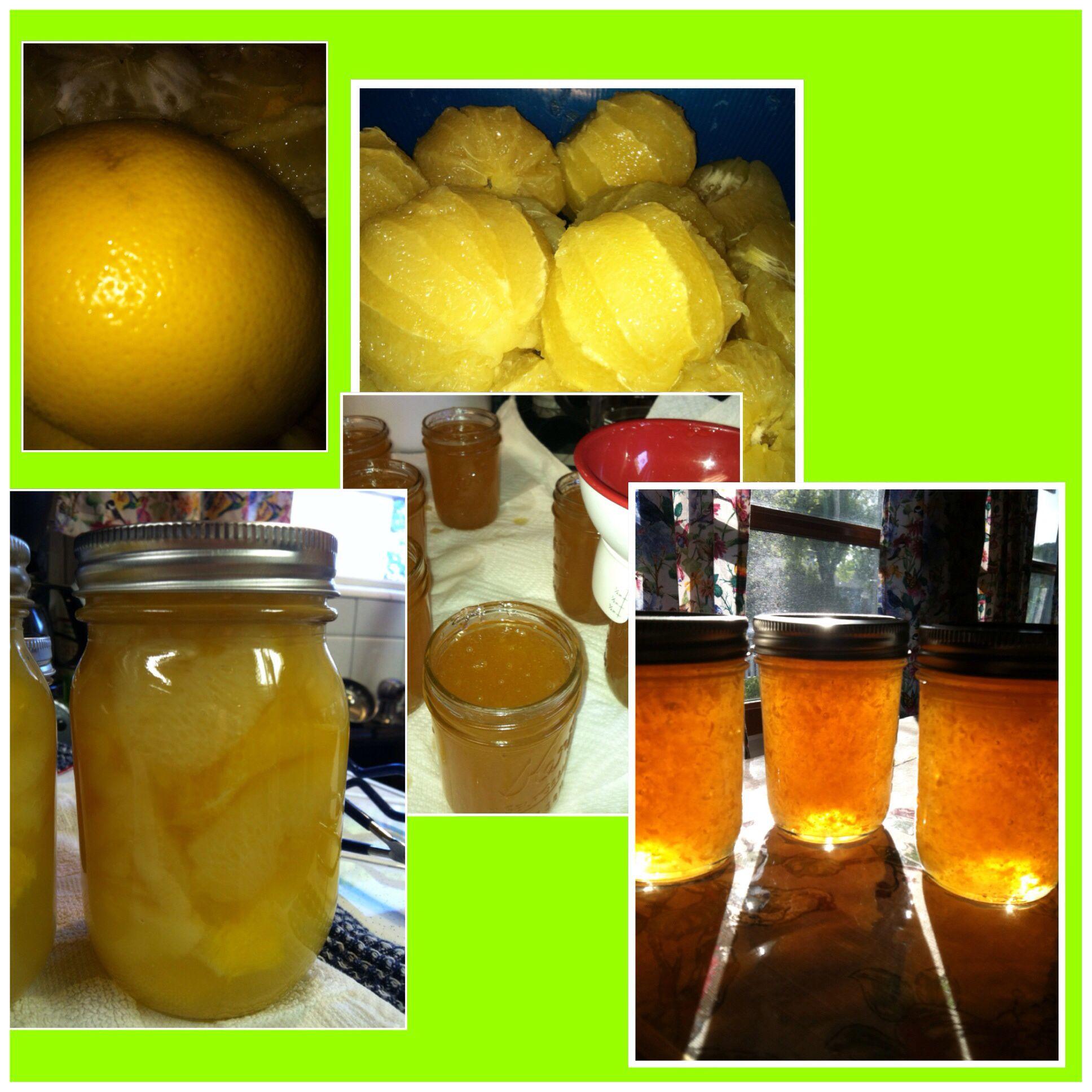 Canning grapefruit ....