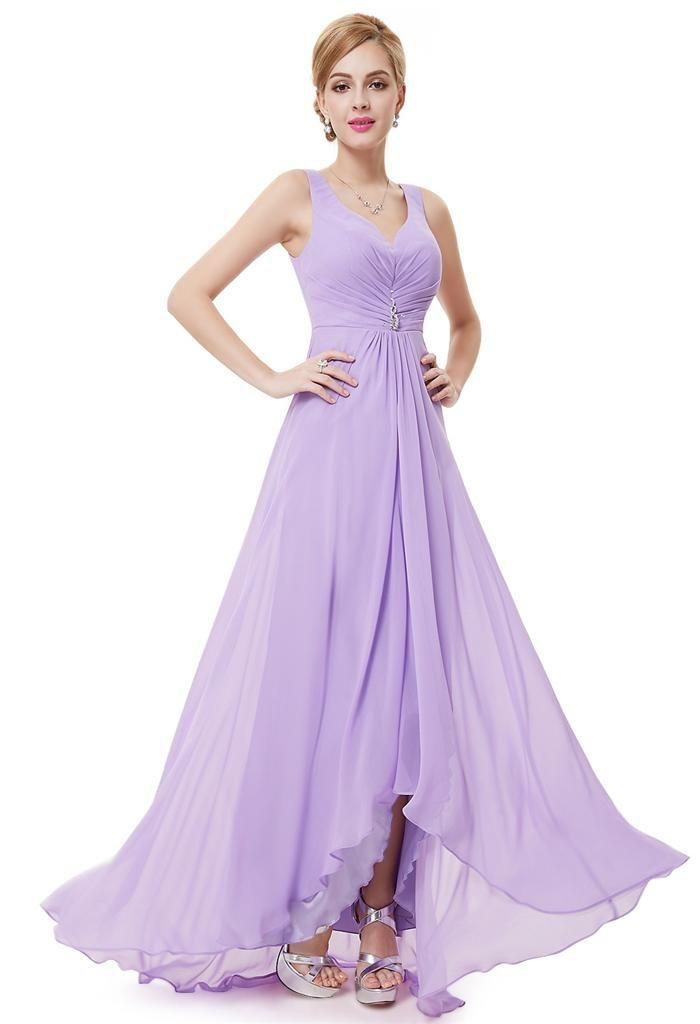 CERYS Lilac Chiffon Jewel Prom Evening Bridesmaid Dress - www ...