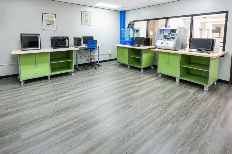 tech furniture. Installation For An Ohio High School CTE Center. Featuring Tech Lab Carts By Interior Concepts. Furniture
