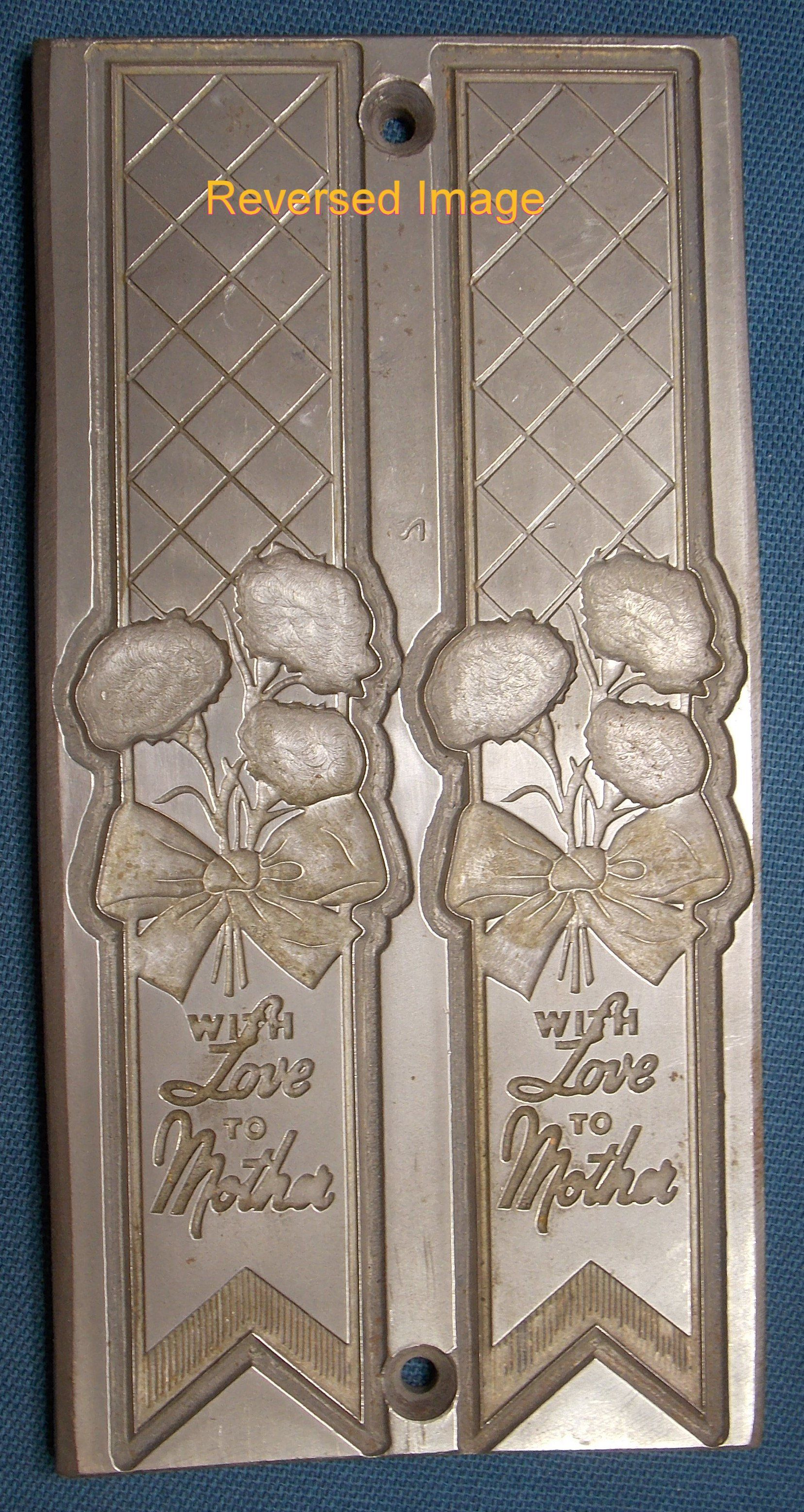 Steel Letterpress Printing Plate With Love To Mother