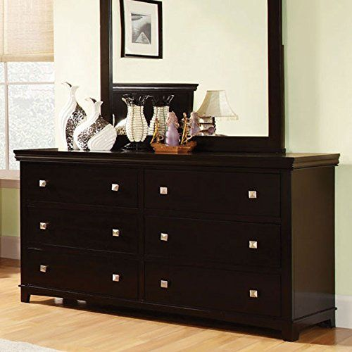 Special Offers - Dunhill Transitional Style Espresso Finish Bedroom Dresser - In stock & Free Shipping. You can save more money! Check It (May 24 2016 at 06:16AM) >> http://adjustablebedusa.net/dunhill-transitional-style-espresso-finish-bedroom-dresser/
