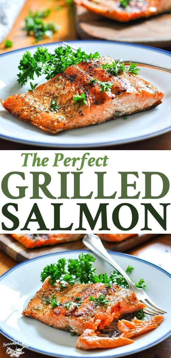 The Perfect 15-Minute Grilled Salmon A Perfect 15-Minute Grilled Salmon recipe is an easy, healthy dinner idea! Salmon Recipes | Seafood Recipes | Healthy Dinner Recipes | Fish Recipes