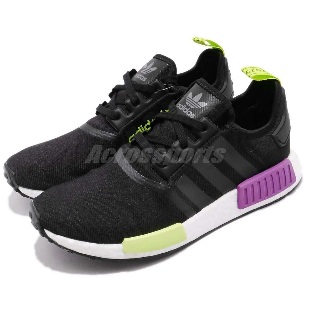 9d92f809a (eBay Sponsored) adidas Originals NMD R1 Boost Black Purple Men Running  Shoes Sneakers D96627