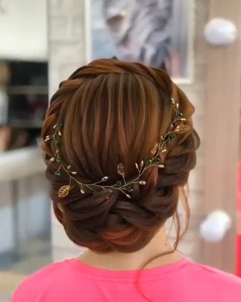 Gorgeous Bridal Hair Styles For Girls In 2020 Hair Braid Videos Hair Upstyles Hair Hacks
