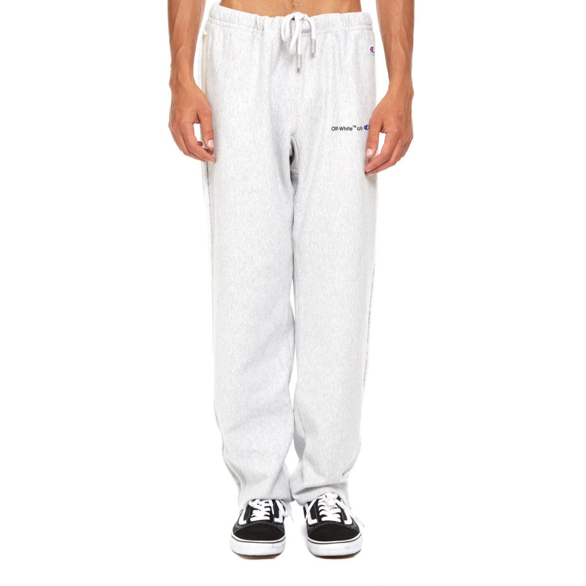 77d3c9548cfdce Champion sweatpants from the S/S2018 Off-White c/o Virgil Abloh collection  in grey