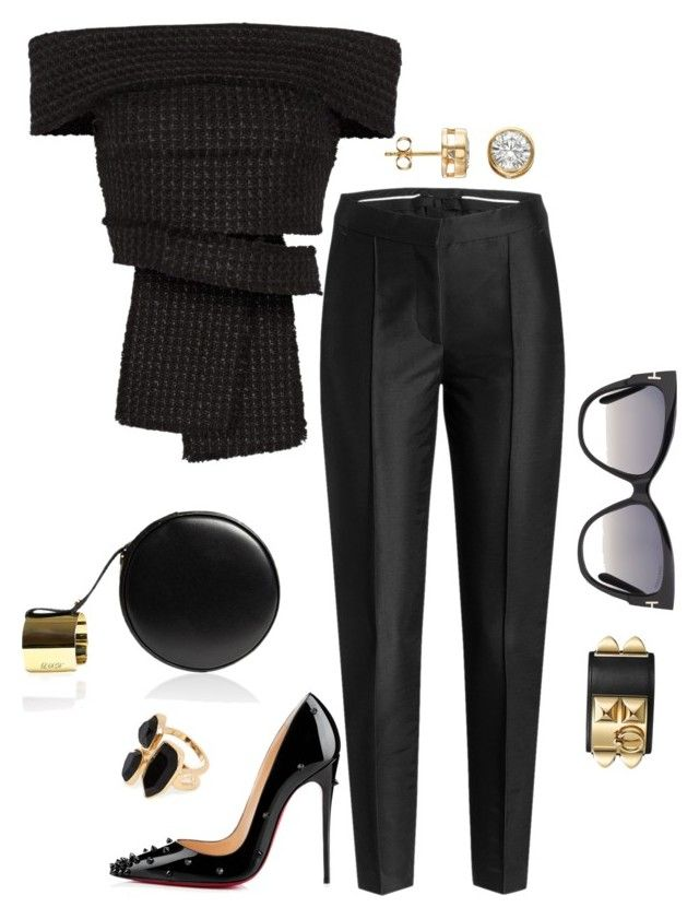 """""""NYFW 2015"""" by fashionkill21 ❤ liked on Polyvore featuring moda, Perrin, Proenza Schouler, Karl Lagerfeld, Christian Louboutin, Tom Ford y River Island"""