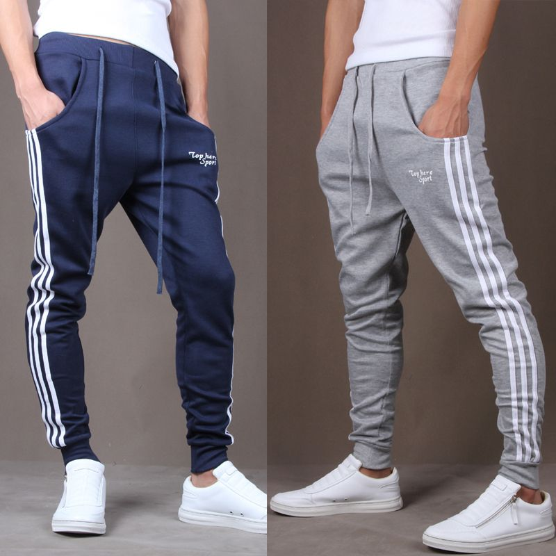 Mens Joggers 2016 Pantalon Homme Men Gym Pants Mallas Hombre Running Lacing  Jogging Sweatpants Jogger Pantalones