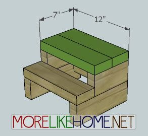 More like home day 27 build a simple step stool from for 2x4 stool plans