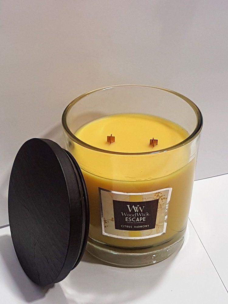 Woodwick Duftkerze Zitrone Vanille Kerze 487 Gr 2 Holzdocht
