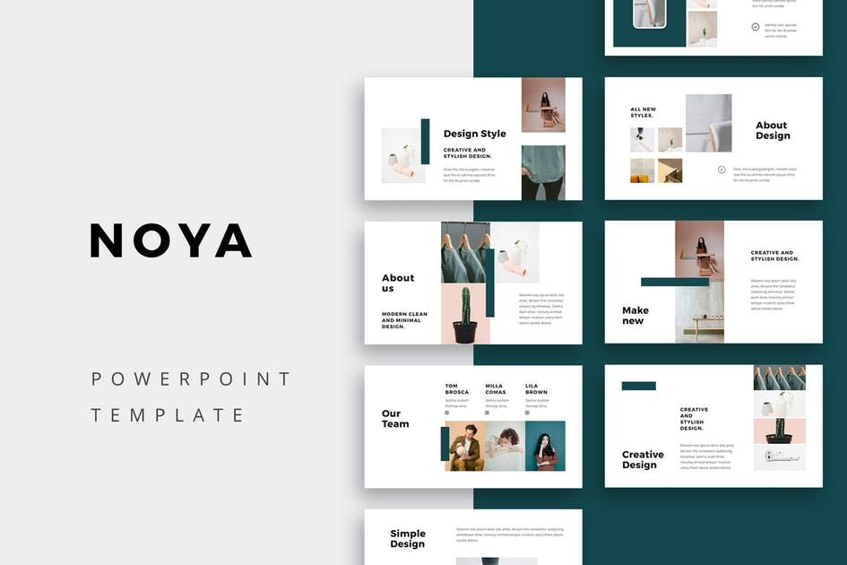 Download Noya Powerpoint Template Presentation Templates By Museframe Simple Powerpoint Templates Presentation Slides Templates Powerpoint Design Templates
