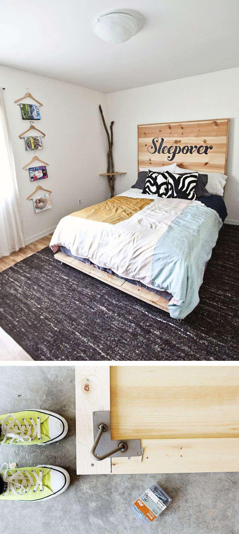 Bett Selbst Bauen Anleitung minimalistisches bett selber bauen anleitung schlafzimmer
