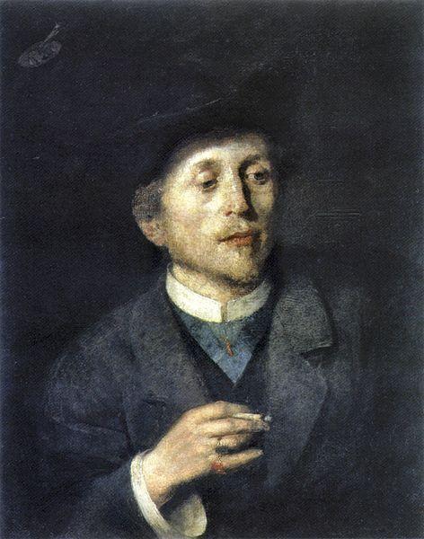 Self-Portrait, 1886, by Anton Ažbe (Slovenian, 1862-1905)