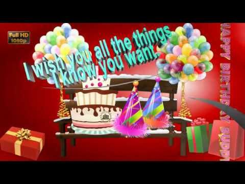 Happy Birthday Wishes For Friend Amazing Animation