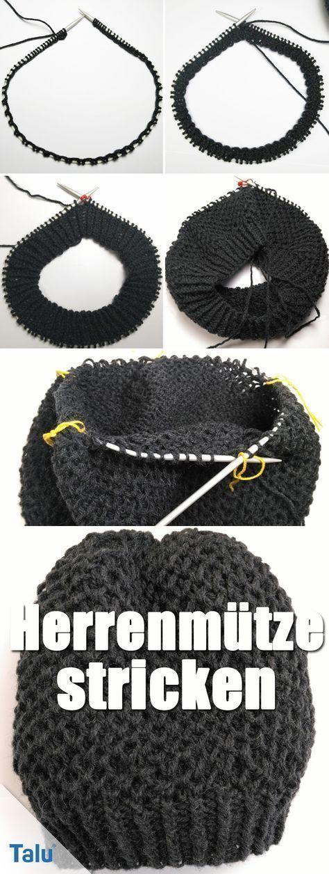 Photo of Strikk menns hatt med rundpinne – Instruksjoner for nybegynnere – Talu.de