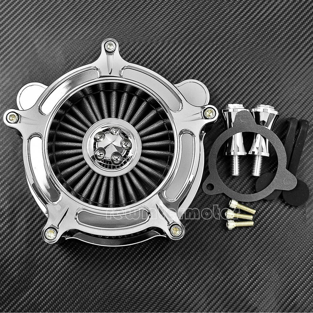 (Advertisement eBay) Chrome Air Cleaner Gray Intake Filter