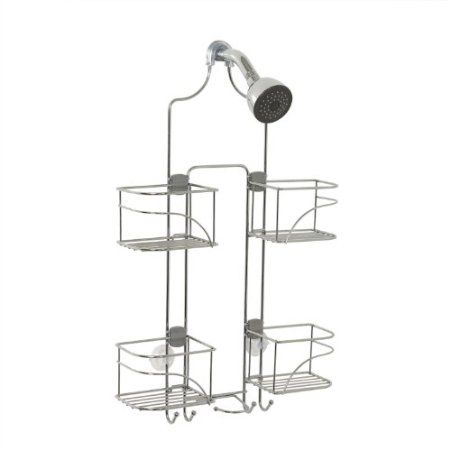Amazon.com: Zenith Products 7446ss Expandable Shower Caddy for Hand Held Shower or Tall Bottles, Chrome: Home & Kitchen