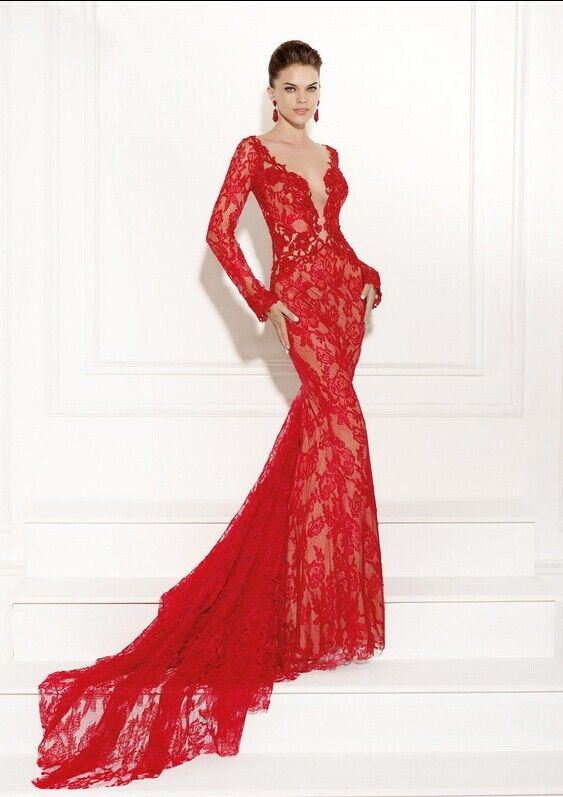 Red lace prom dress 2015 | My best dresses | Pinterest | Dress prom