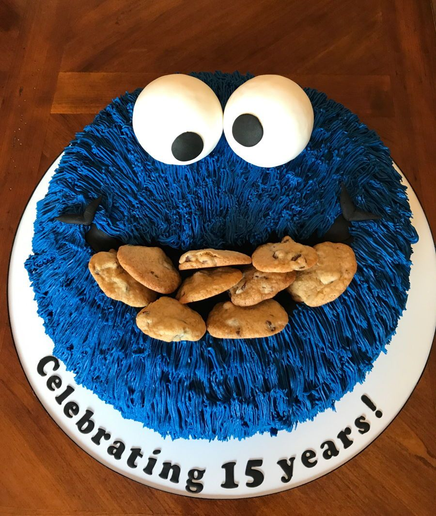 Cookie monster a traditional cookie monster cake