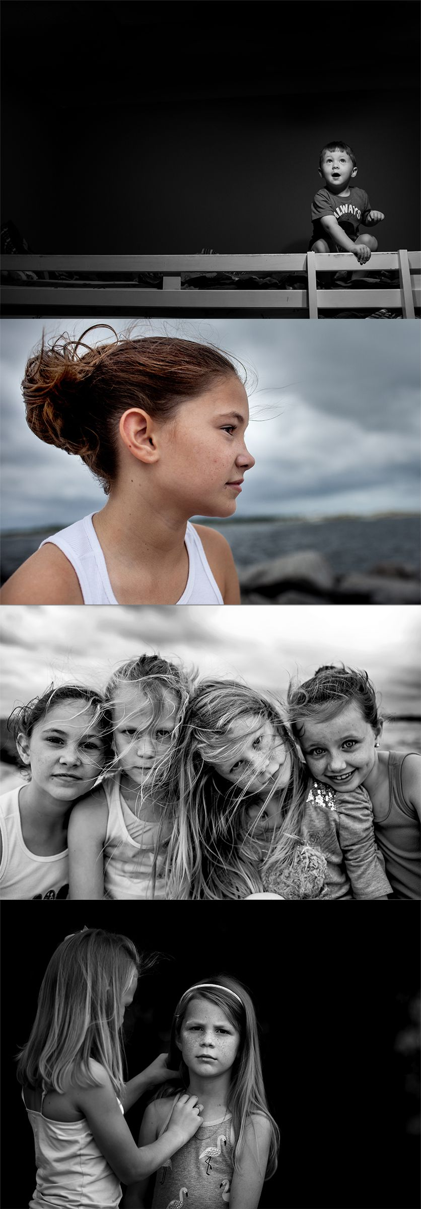 Portraits of your kids don't always have to be smiles at the camera. Look for a documentary family photographer to give your child's portrait emotion and meaning.