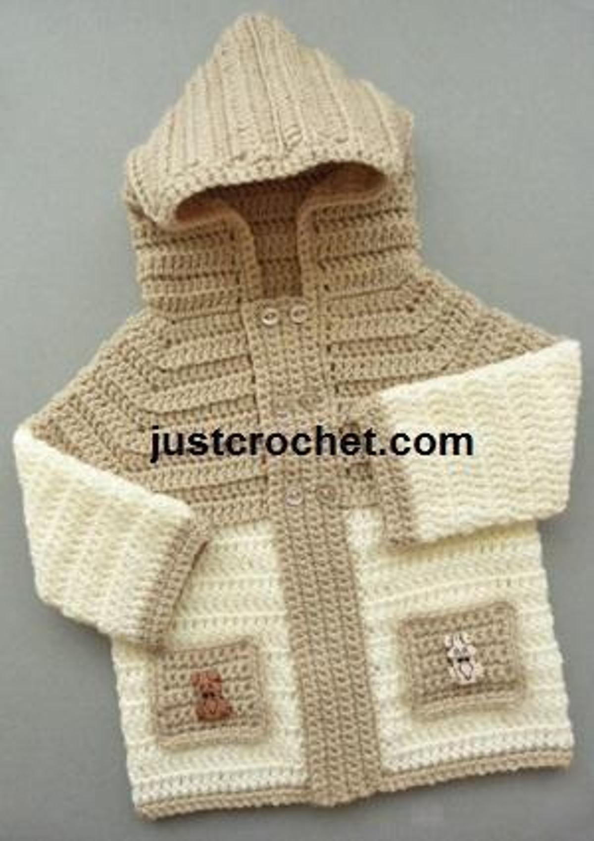 9070bd7d30f8 FJC43-Hooded Jacket Baby crochet pattern