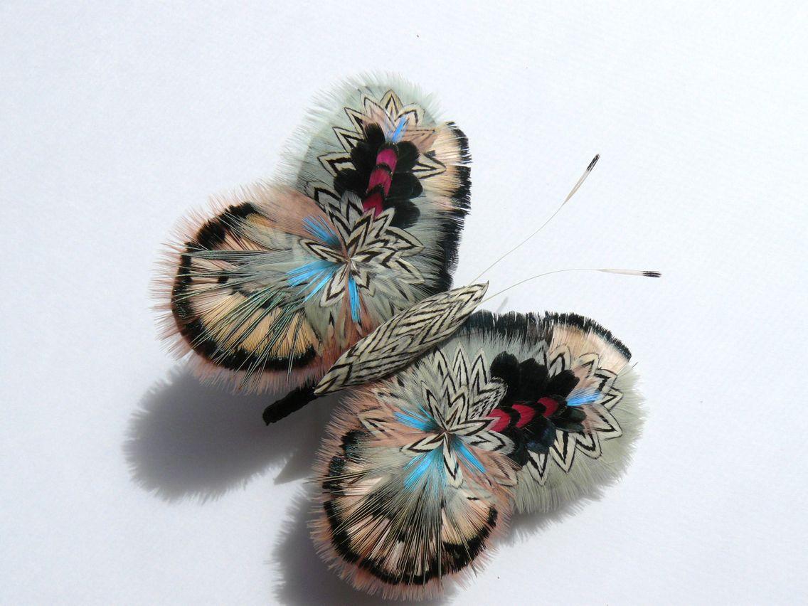 Papillon plumes @Prune Faux