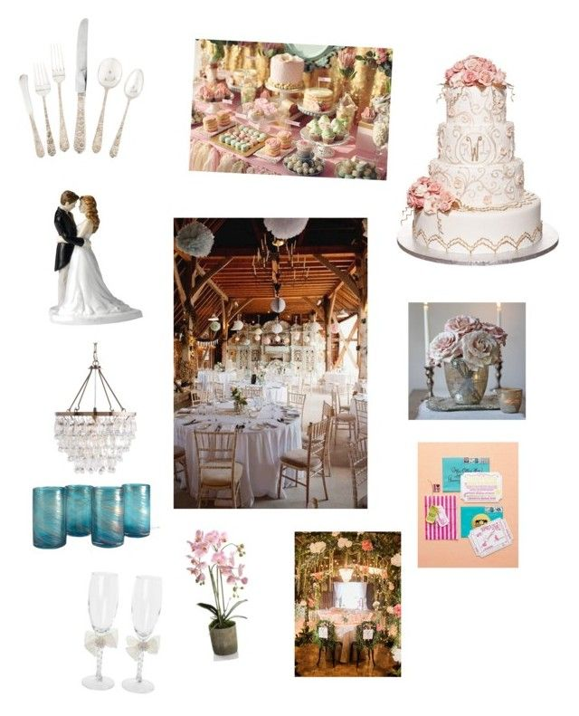 """""""my wedding part1"""" by daisydurnell on Polyvore featuring beauty, Reception, Royal Doulton, Frontgate and Ivy Lane Design"""