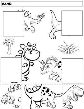 dinosaur color and match group 1 szlaczki dinosaurs preschool kindergarten worksheets i. Black Bedroom Furniture Sets. Home Design Ideas