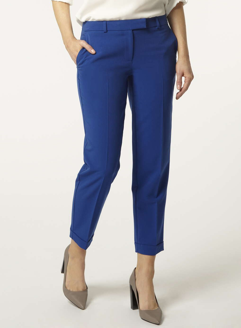 bb6fccb15f8 Cobalt Ankle Grazer Trousers as seen in Grazia  DorothyPerkins