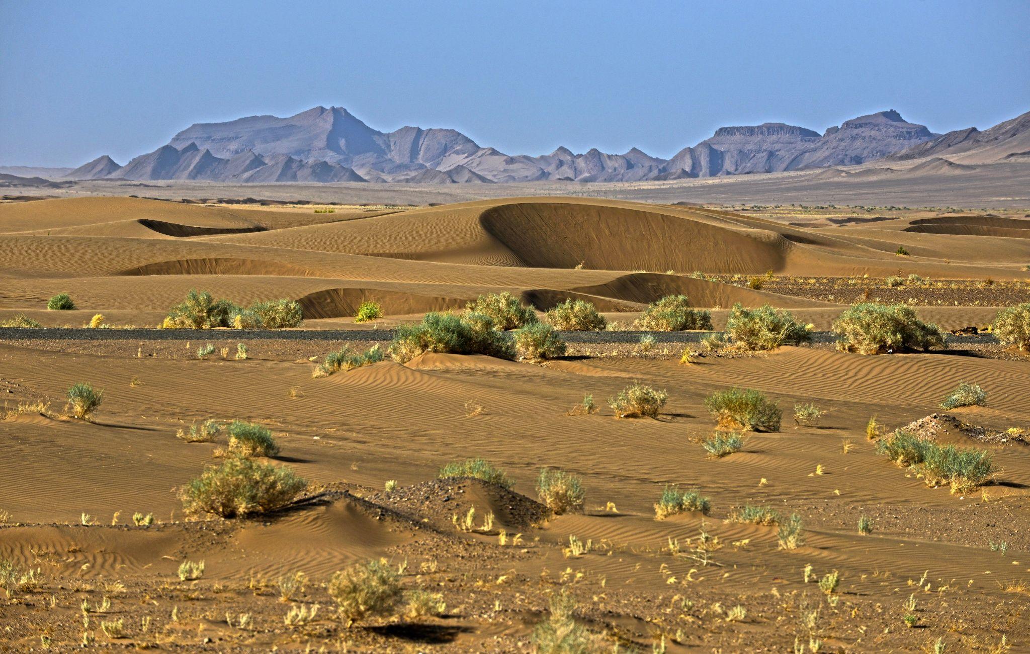 Tabas Desert Iran Travel Beautiful Nature Landscape