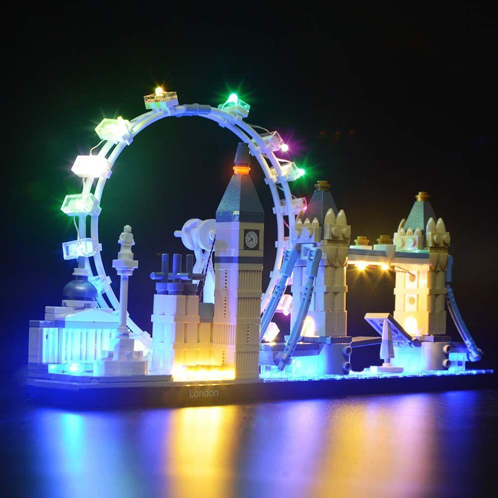 Briksmax Led Beleuchtungsset F R Architecture London Skyline Sammlungsset Kompatibel Mit Lego 21034 Bausteinen Modell Ohne Lego Set In 2020 Beleuchtung Skyline Led
