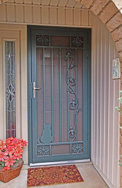 First Impressions Security Screen Door Quattro Design W Custom Feature Quasec002 Screen Door Security Screen Door Cozy House