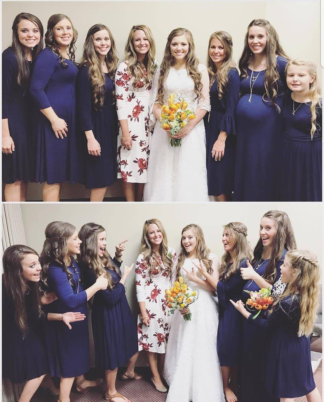 The Duggar Family On Instagram Fbf Some Bridesmaids At Joy Anna S Wedding And Laura Did Wonderful Work Of Wedding Coordi Duggars Duggar Girls Duggar Wedding